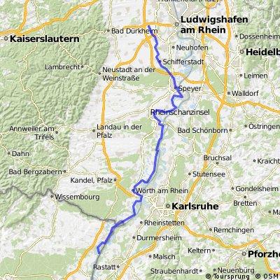 Mainz - Freiburg Tag 2: Baumi bis Seltz
