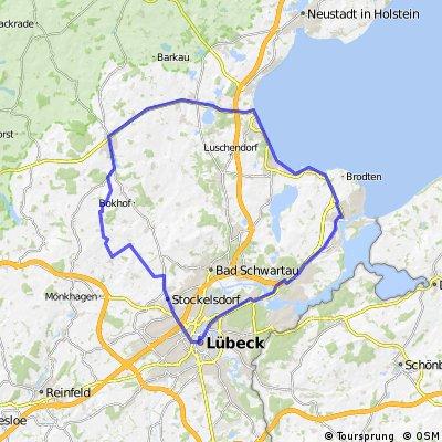 Obernwohlde-Ahrensbök-Scharbeutz-Timmendorfer Strand-Travemünde-Kücknitz-Lübeck-Dissau-Obernwohlde
