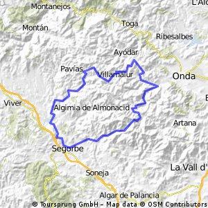 Segorbe-Almedijar-Alcudia de Veo-Villamalur-Matet- -Gaibiel -Segorbe