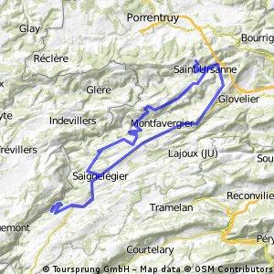 Goumois-Noirmont-Montfaucon-Col de la Croix