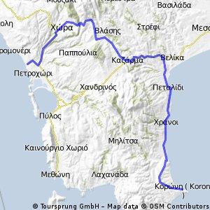 Costa Navarino - Chora - Rizomylos - Koroni