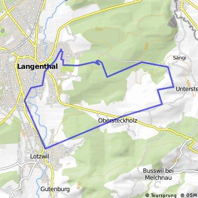 12 km Tierpark - Lotzwil