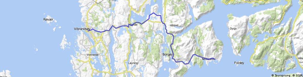 Nordsjøsykkelruta: (Stavanger) Nedstrand - Haugesund