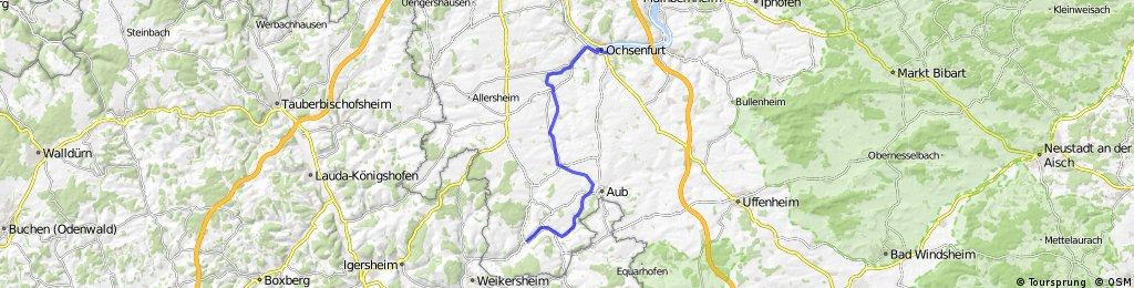 Gaubahn Radweg Ochsenfurt - Röttingen