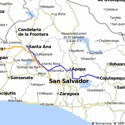 santa ana-san salvador-cojutepeque