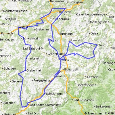 2008_Osthessen (Fulda -  Milseburgradweg - Vulkanradweg - Fulda)