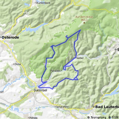 Harz Lonau-Hanskühneburg-SieberKnollen-Lonau
