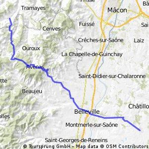 From St Pierre Le Vieux to St Trivier Sur Moignan