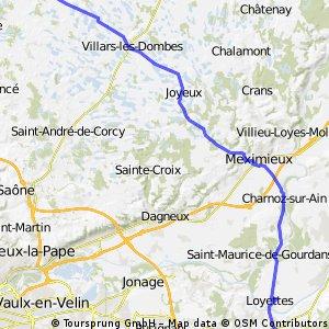 St Trivier Sur Moignans to Cremieu