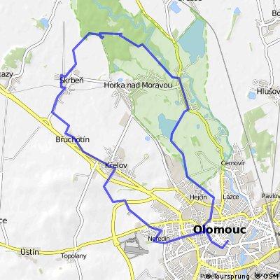 Pohodový okruh severozápadně od Olomouce