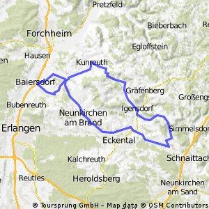 Baiersdorf - Oberrūsselbach und zurück