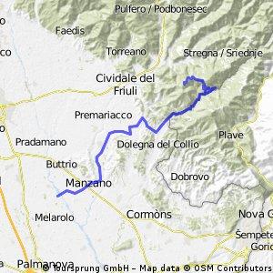 Percoto-Castelmonte (Via OborzaAlbana)