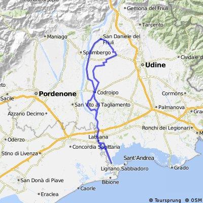 Lignano - San Daniele del Friuli ... 140 km