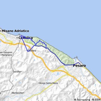 Gabicce Mare-Pesaro-Gradara-Gabicce Mare