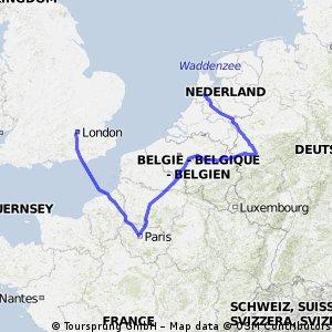 London to Amsterdam