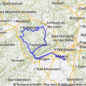 1995_Rhein - Lahn - Aar - Wisper - Rhein (Königstädten - Mainz - Rüdesheim - Bingen - Lahnstein - Diez - Bad Schwalbach - Lorch - Wiesbaden - Königstädten)