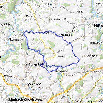 Taura > Chemnitztal > Wiederbachtal > Koenigshain > Garnsdorf >Taura