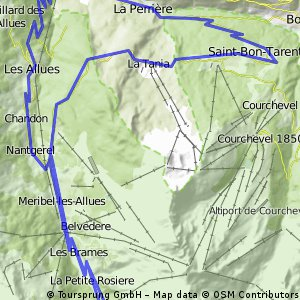 Cycling routes and bike maps in and around Les Allues Bikemap