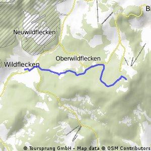 Abfahrt Kreuzberg nach Wildflecken