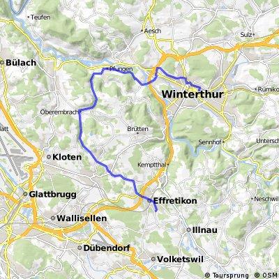Effretikon - Oberembrach - Wülflingen - Winterthur