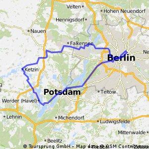 Berlin - Ketzin / Fähre-Havel - Berlin
