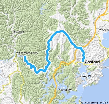Gosford to Mill Creek Campground