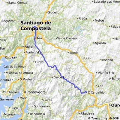 Santiago- A Estrada-Forcarei-Soutelo de Montes- O Carballiño