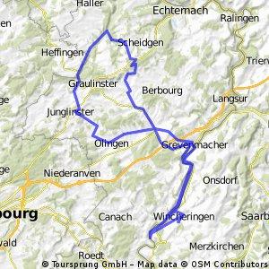 Tour de Luxembourg 2011 - RTF des Radsportclub Obermosel Wincheringen 1983 e.V. - 71 km Strecke