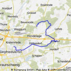 Erweiterung der schattigen Waldtour - Braunschweig Nordost