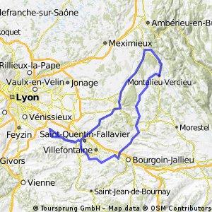 Toussieu/Optevoz 125 Km