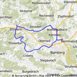 ca. 60 km Baunach Eltmann Tütschengereuth
