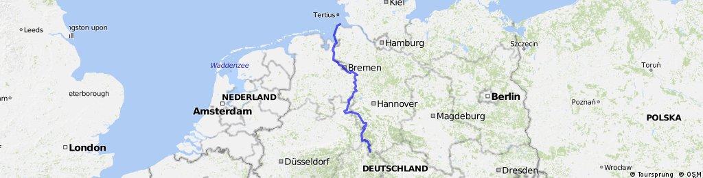 Weser Radweg Karte.Weser Radweg Bikemap Deine Radrouten