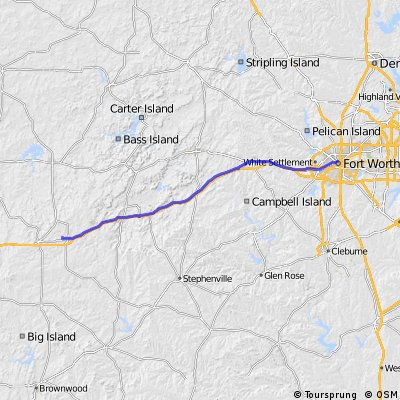 Cycle for Heart 2014, Eastland to Fort Worth