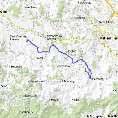 Schildorn - Wildenau (über Karlsberg)