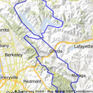 Skyline Boulevard and East Bay Reservoirs