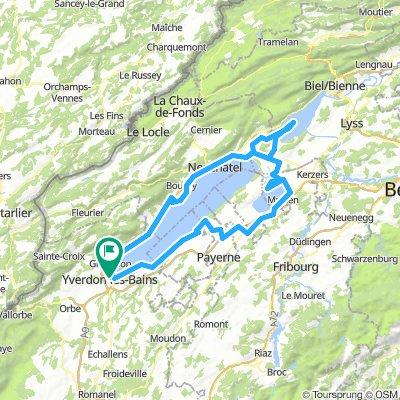Trois lacs, quatre cantons