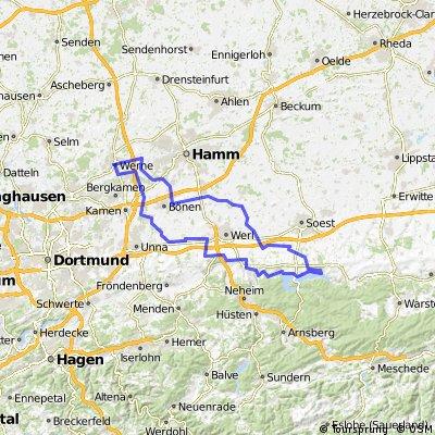 BRT2014 27.07.14 - Von der Horne bis zum Haarstrang - RTF des Radteam Hamm e.V. - 115 km Strecke