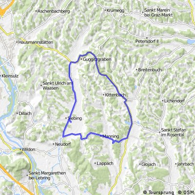 Feiting - Edelstauden - Kirchbach - Feiting