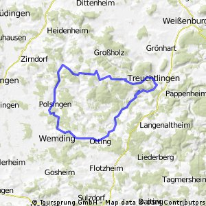 Hahnenkammsee Treuchtlingen Möhrenbachradweg
