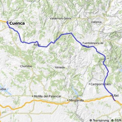 Ruta Cuenca - Fuentes - Carboneras - Boniches - Landete - Talayuelas - Utiel