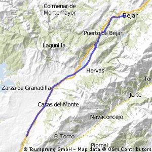Béjar-Villar de Plasencia
