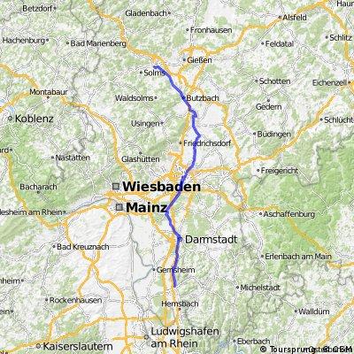 Radtour nach Bensheim zum Hessentag