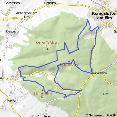 Tetzelstein-Reitlingstal-Lutterspring-Erkerode