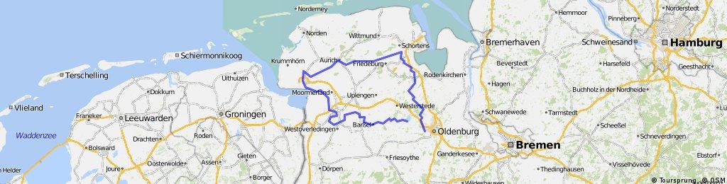 Maitour 2008 der Oldenburger Liegeradfahrer