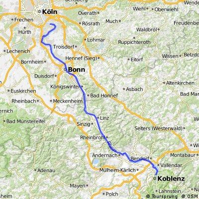 Von Koblenz nach Köln