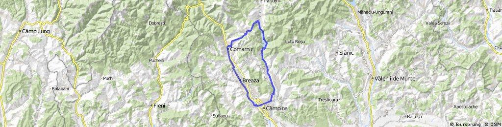 Valea Doftanei - Paltinu - Secaria - Comarnic - Breaza - Campina