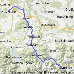 Radltour von Holzkirchen nach Bayrischzell