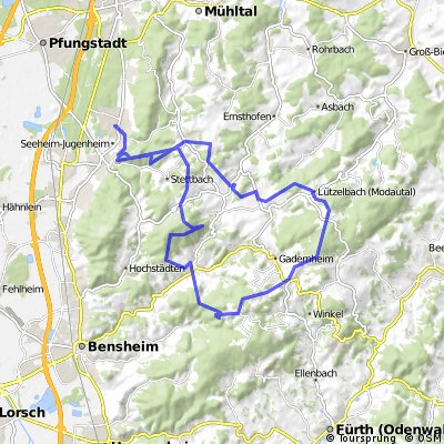 MTB Seeheim Neunkirchen Knoden Felsberg Tannenberg