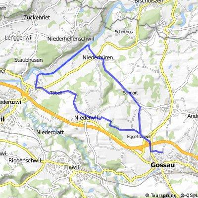 Gossau-Niederwil-Oberbüren-Thur-Niederbüren-Gossau
