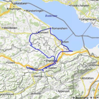 Wittenbach, Bernhardzell, Amriswil, Romanshorn, Rorschach, mörschwil, St. Gallen